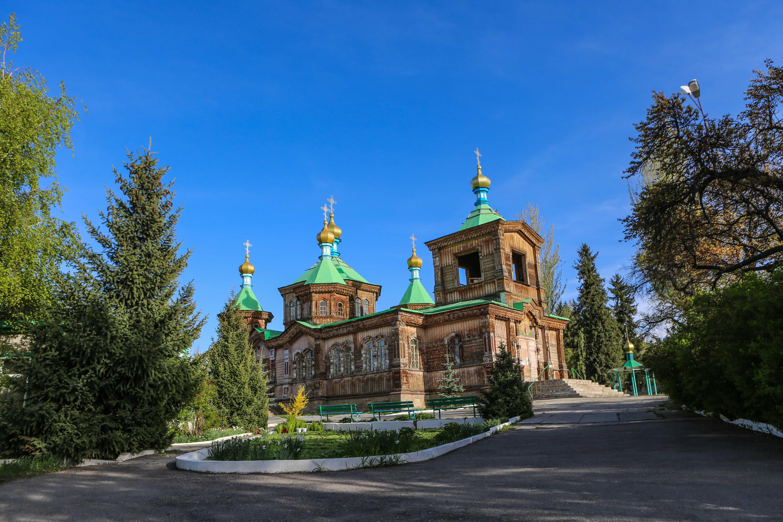 Den gamla ryska utposten Karakol