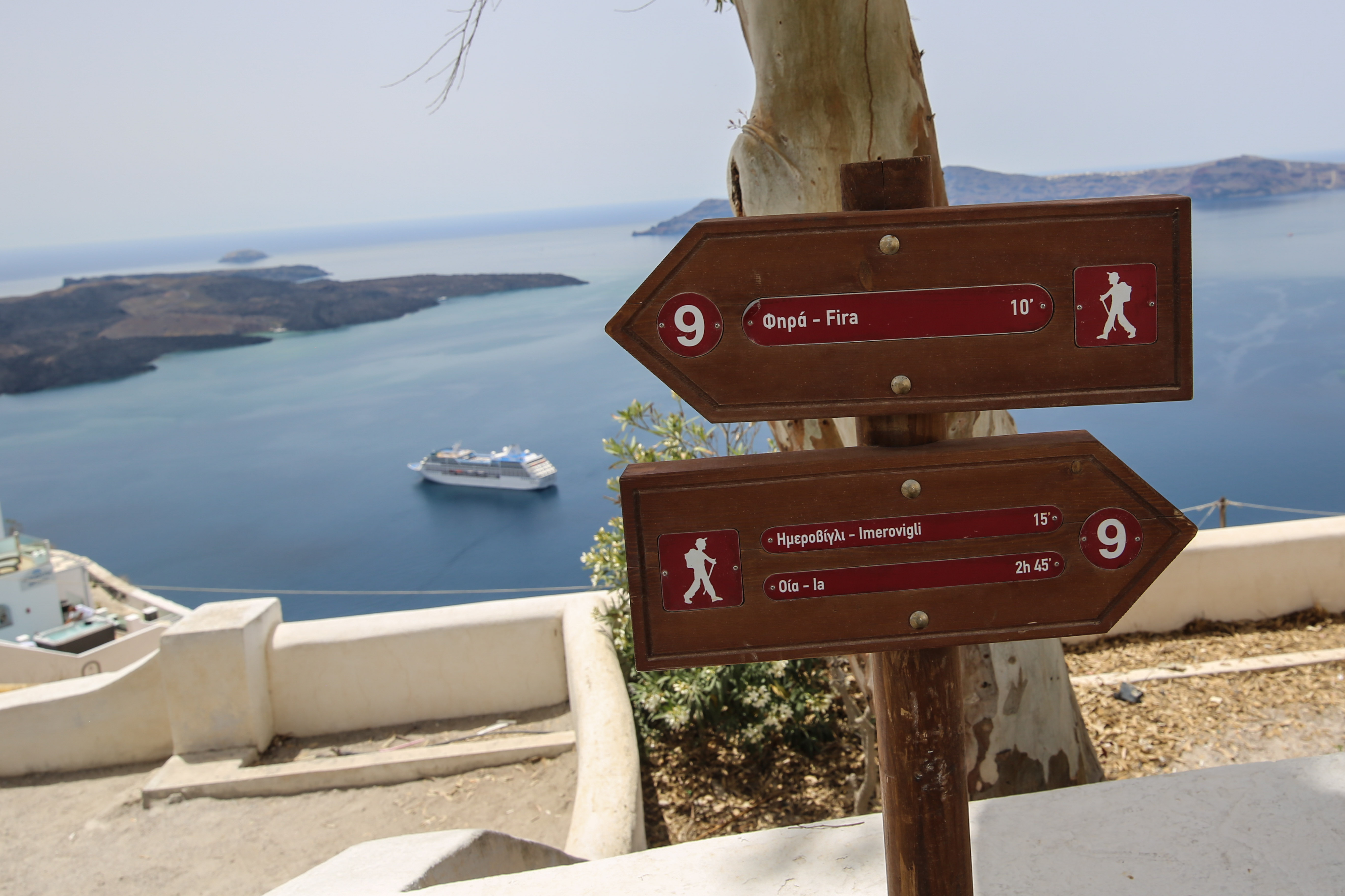 Vandring på Santorini