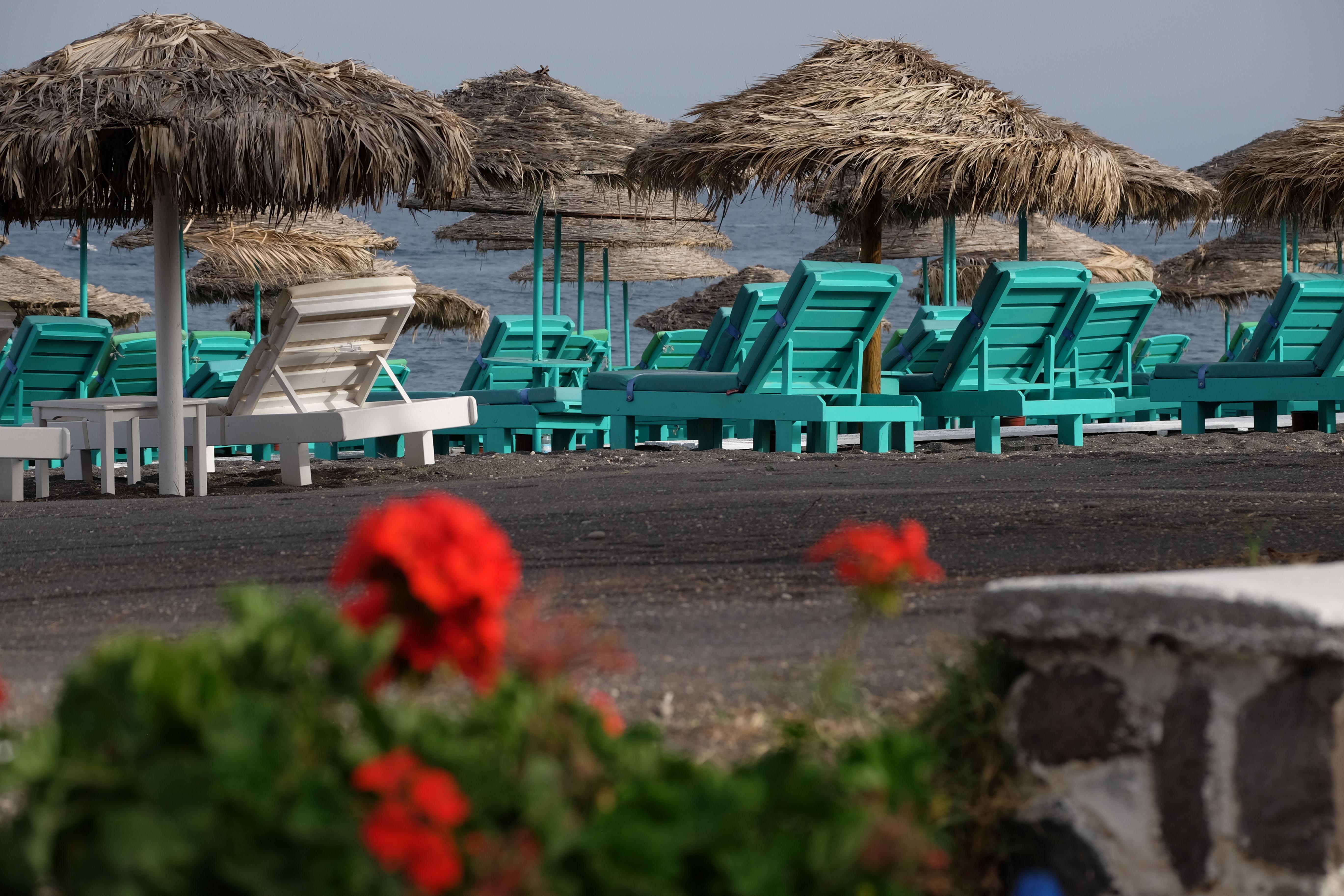 Perissa – en strand på Santorini