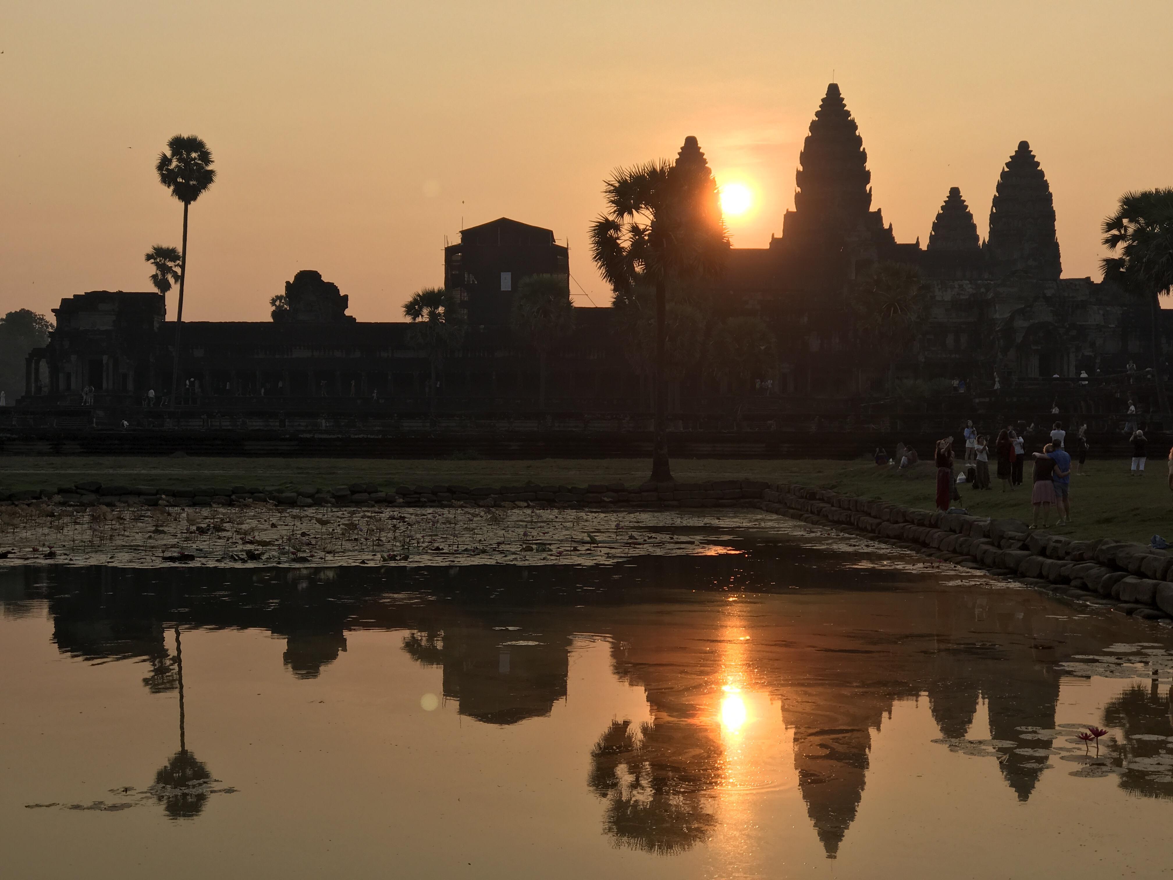 Soluppgång vid Angkor Wat