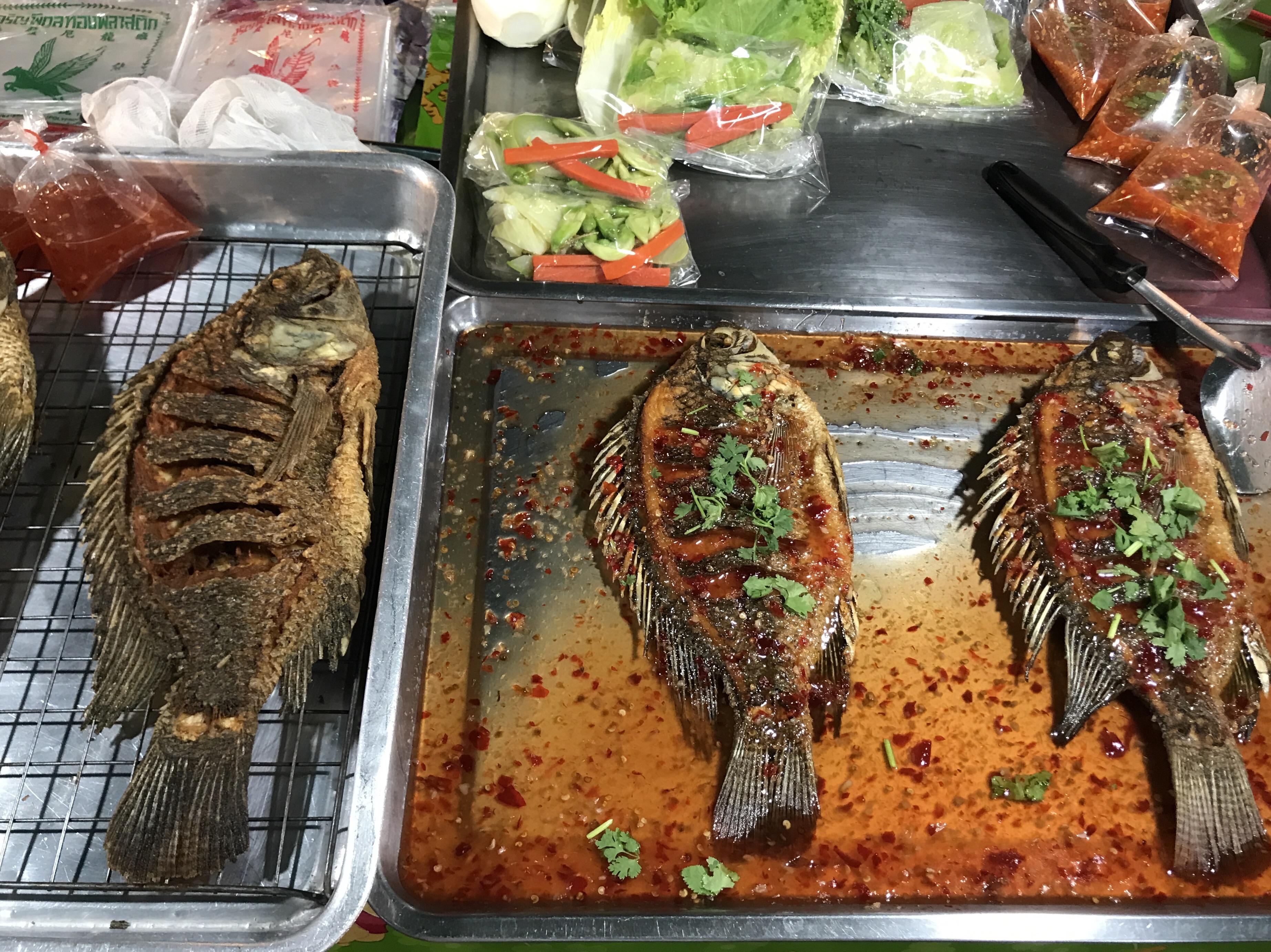 Matmarknaden i Lat Krabang